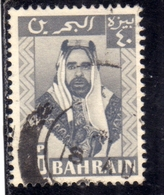 BAHRAIN BAHREIN 1960 SHEIK SULMAN BIN HALMADAL KHALIFAH 40np USATO USED OBLITERE' - Bahrein (...-1965)