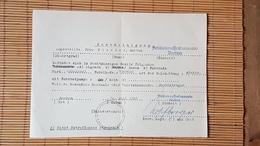 Bescheinigung über Den Besitz Eines Fahrrades In Borkum,  Artilleriewaffenkommando Borkum, Juli 1945 - Dokumente
