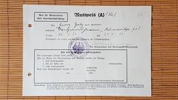 Ausweis An Einem Anerkannten Lehrgang Zur Leibeserziehung, Wilhelmshaven 1936 - Dokumente