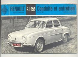 """Manuel De Conduite Et Entretien De La Voitue RENAULT """" Dauphine """" R.01095 De 1965 (b258) - Auto"""