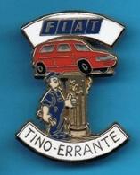 1 PIN'S //  ** GARAGE AUTOMOBILE / FIAT / Tino ERRANTE / BRUNOY ** . (Ballard 77) . 3,8 Cm - Fiat