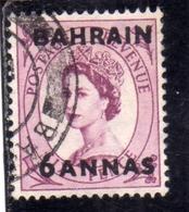 BAHRAIN BAHREIN 1952 1954 QUEEN ELIZABETH II REGINA ELISABETTA 6a USATO USED OBLITERE' - Bahrein (...-1965)