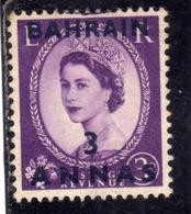 BAHRAIN BAHREIN 1952 1954 QUEEN ELIZABETH II REGINA ELISABETTA 3a USATO USED OBLITERE' - Bahrein (...-1965)