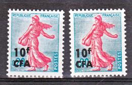 Réunion 349 CFA Marianne Variété Gomme Tropicale  Et Normal Idem 1233 France Neuf ** MnH Sin Charmela - Nuovi