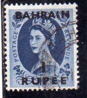 BAHRAIN BAHREIN 1952 1954 QUEEN ELIZABETH II REGINA ELISABETTA 1r USATO USED OBLITERE' - Bahrein (...-1965)