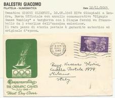 Gran Bretagna, Olimpiadi Di Londra, 10.8.1948, Annullo Olympic Games Wembley. - Francobolli