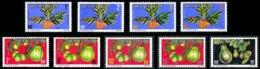POLYNESIE 1977 - Yv. Service 1A à 9A **   Cote= 7,35 EUR - Fruits (9 Val.)  ..Réf.POL24233 - Service