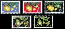 POLYNESIE 1977 - Yv. Service 11A à 15A **   Cote= 32,65 EUR - Fruits (5 Val.)  ..Réf.POL24236 - Service