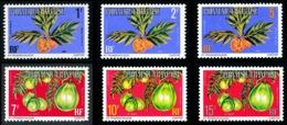 POLYNESIE 1977 - Yv. Service 1A 2A 4A 5A 7A 8A **   Cote= 4,45 EUR - Fruits (6 Val.)  ..Réf.POL24237 - Service