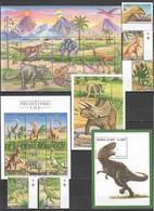 WW983 SIERRA LEONE FAUNA DINOSAURS #3006-24 !!! MICHEL 56 EURO 1SET+2BL+2KB MNH - Prehistorics