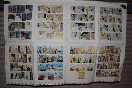 Tintin Le Crabe Aux Pince D'Or Planche D'imprimerie Offset 8 Pgs Anglais Américain 91cm X 63cm - Livres, BD, Revues