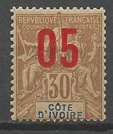 COTE D'IVOIRE N° 37 NEUF*   TRACE DE CHARNIERE  / MH - Neufs
