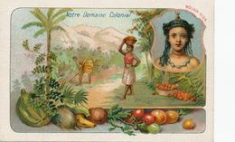 Marquises . Nouka Hiva . Vahiné . Oranges . Domaine Colonial . Chromo - Polynésie Française