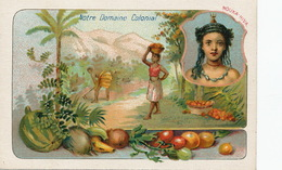 Marquises . Nouka Hiva . Vahiné . Oranges . Domaine Colonial . Chromo - French Polynesia