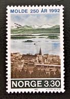 250 ANS DE LA VILLE DE MOLDE 1992 - OBLITERE - YT 1055 - MI 1098 - Norvège