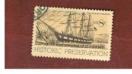 STATI UNITI (U.S.A.) - SG 1444   - 1971  HISTORIC PRESERVATION: SHIP C.W. MORGAN - USED - Usati