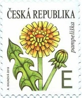 CZ 2019-1032 DEFINITIVE FLOWER, CZECH, 1 X 1v, MNH - Tchéquie