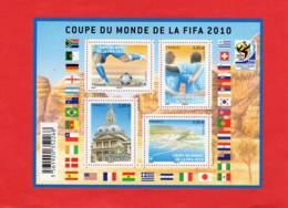 * * Bloc COUPE DU MONDE DE LA FIFA 2010 * * - Mint/Hinged
