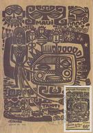 Carte  Maximum  1er  Jour   POLYNESIE    Légendes  Polynésiennes    1989 - Cartes-maximum