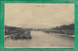 Reims (51) Le Port 2scans 12-02-1918 Par Louis Lagogney Péniches - Reims
