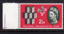 GREAT BRITAIN GRAN BRETAGNA 1962 NATIONALPRODUCTIVITY YEAR (Phosphorescent)  PHOSPHOR BANDS 2 1/2p MNH - Nuovi