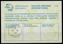 JAMAICA / JAMAIQUE La22 International Reply Coupon Reponse Antwortschein IAS IRC o KINGSTON 08.05.75 - Jamaica (1962-...)