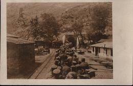 ! Alte Fotokarte, Photo, Soldaten, 1. Weltkrieg, Guerre 1914-18, Eisenbahn, Feldbahn, Taurustunnel, Türkei ?, Militaria - Türkei