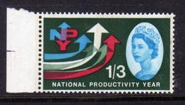 GREAT BRITAIN GRAN BRETAGNA 1962 NATIONALPRODUCTIVITY YEAR (Phosphorescent)  PHOSPHOR BANDS 1/6 1sh 3p MNH - Nuovi