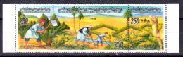 26.6.2001; Urbarmachung Der Wüste, Mi-Nr. 2764 - 2766, 3er-Streifen, Postfrisch, Los 51590 - Libyen