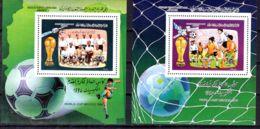 31.5.1986; Fussball-Weltmeisterschaft, Mexiko, Mi-Nr. 1665 +6 In Blocks 106 + 107, Postfrisch, Los 51594 - Libyen