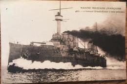Cpa (Reproduction?), Cuirassé Ernest Renan, Marine Militaire Française, - Guerre