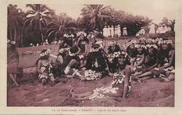 Tahiti . Life In The South Seas Groupe De Vahinés Stamped Papeete 1934 To Salt Lake City German - Polynésie Française