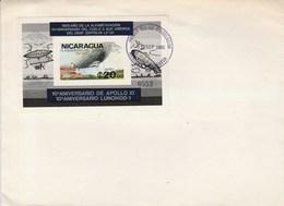 NICARAGUA - BLOC YT 134 - FDC - 1980 - ZEPPELIN - APOLLO XI - Nicaragua