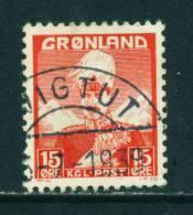 GREENLAND - 1938 Christian X 15o Used (stock Scan) - Groenlandia