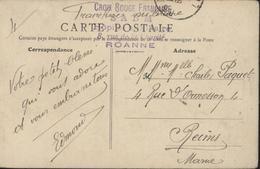 Guerre 14 CPA Roanne Le Théâtre FM Cachet Croix Rouge Française SABM Hôpital Auxiliaire 8 R Charité Roanne - Oorlog 1914-18