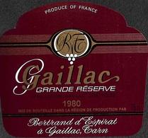 Gaillac Grande Réserve 1980 - Bertrand D'Espiral - Etiquettes