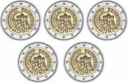 Duitsland 2015    2 Euro Commemo   ADFGJ  Duitse Eenmaking - Réunion     UNC Uit De Rol  UNC Du Rouleaux - Allemagne
