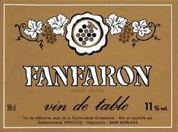 Fanfaron - Vin De Table - Menjucq, Morlaas 11 % - Etiquettes