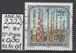 "21.6.1996 - SM ""Volksbrauchtum U. Volkskundl. Kostb. - Prangstangen/Sbg.""    - O Gestempelt - Siehe Scan (2222o 01-04) - 1991-00 Usados"