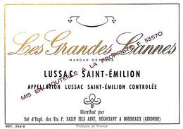 Les Grandes Lannes - Lussac Saint-Emilion, P. Salin - Etiquettes