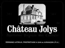 Château Jolys Sec, Domaine Latrille à Gan - Etiquettes