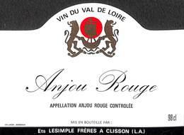 Vin Du Val De Loire - Anjou Rouge, Ets Lesimple Frères à Clisson - Etiquettes