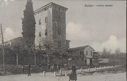 CASTELLO QUISTINI - ROVATO (BS) - ANIMATA - FORMATO PICCOLO - EDIZ. CITTADINI BERGAMO - VIAGGIATA DA ROVATO 1925 - Castelli
