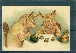 Relief - Gaufrée - Embossed - Prage - Cochon - TBE - Schweine