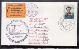 20 / 01 ) Free Shipping To  / BRD Germany Antarktis Station Georg Von Neumayer Helikopter Flug - Antarktis-Expeditionen