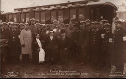 ! Fotokarte, Photo, Adel, Kronprinzessin Cecilie, Vereinslazarettzug, Eisenbahn, Rotes Kreuz, Croix Rouge - Rotes Kreuz