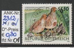 "7.5.1999 -  SM ""Jagd Und Umwelt""  -  O Gestempelt  -  Siehe Scan  (2312o 01-08) - 1945-.... 2nd Republic"