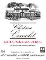 Château Comolet - Coteaux Du Languedoc, Molt Wengels Vinimport - Etiquettes