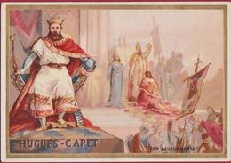 Chromo Hugues Capet Histoire De La France Son Couronnement History (In Good Condition) - Autres