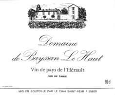 Domaine De Bayssan Le Haut - Hérault, Saint-Rémi - Etiquettes
